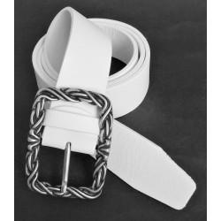 Opasek kožený Penny Belts 5100 bílý