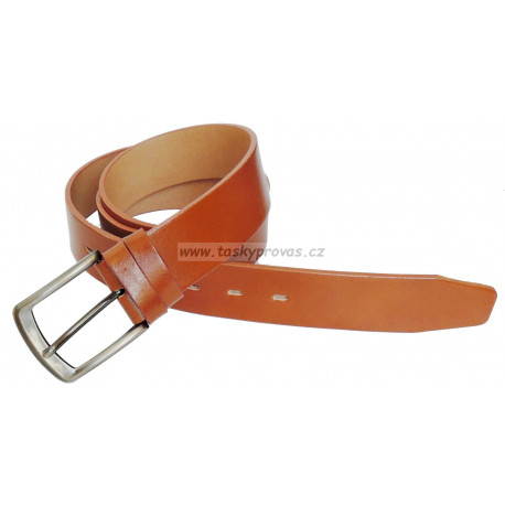 Opasek kožený Belts 38-42 camel