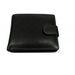 Krol 8028 černá kožená peněženka s přepínkou