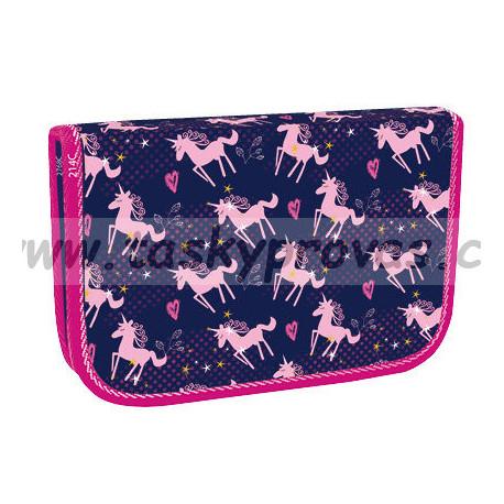 Školní penál Stil jednopatrový Pink Unicorn