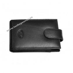 Kožené pouzdro na kreditní karty nebo vizitky DD S100-01 černé
