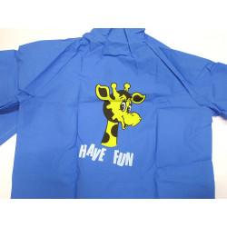 Pláštěnka dětská Viola vel.130 modrá / žirafa