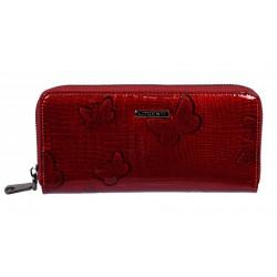 Dámská kožená peněženka Lorenti 77006-RSBF red
