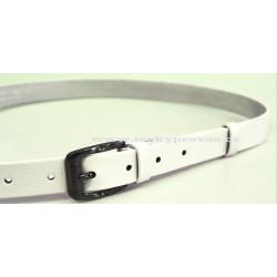 Opasek dámský kožený Penny Belts 172-00 bílý