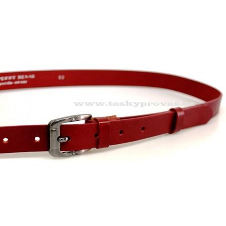 Opasek dámský kožený Penny Belts 172-93 červený