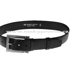 Opasek kožený Penny Belts 23-60 černý