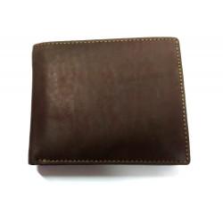KROL 2011 hnědá kožená peněženka