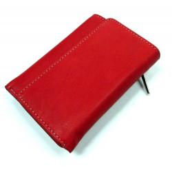KROL 1015 červená dámská kožená peněženka