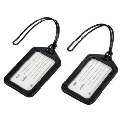 Hama identifikační štítek na zavazadlo, černý, set 2 ks (cena uvedená za set) 105322