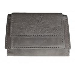 Malá kožená peněženka Talacko 7116 grey