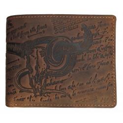 LandLeder pánská kožená peněženka Bull and Snake 1721-25 hnědá