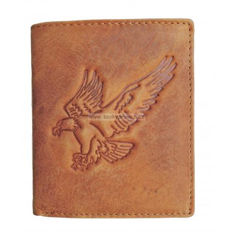 Pánská kožená peněženka Talacko 60171 cognac