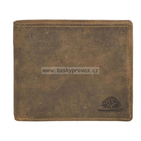 Greenburry pánská kožená peněženka 1702-25 hnědá