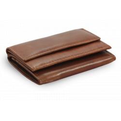 Kožená mini peněženka Arwel 511-4392A hnědá