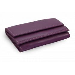Kožená mini peněženka Arwel 511-4392A fialová
