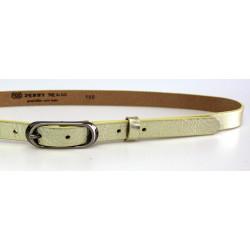 Opasek dámský kožený Penny Belts 20-175-173 ZLATÝ METAL