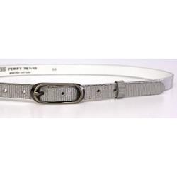 Opasek dámský kožený Penny Belts 20-175-606 STŘÍBRNÝ METAL
