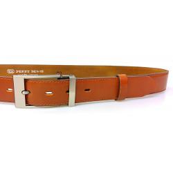 Pánský luxusní kožený společenský opasek Belts 35-020-19 camel