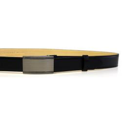 Pánský luxusní kožený společenský opasek s plnou sponou Belts 35-020-A15 černý