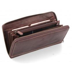 Dámská kožená peněženka Poyem ANDORA 5212 hnědá