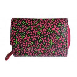 Dámská kožená peněženka DD X 14-18 black/pink