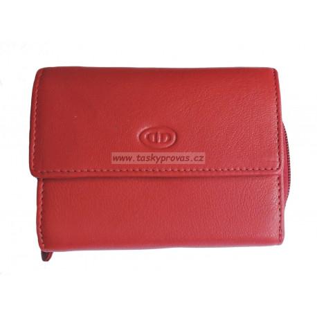 Dámská kožená peněženka DD X 14-08 red