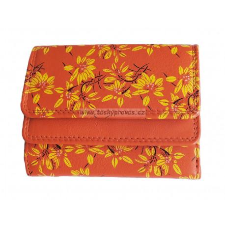 Malá kožená peněženka DD 1185-11 orange