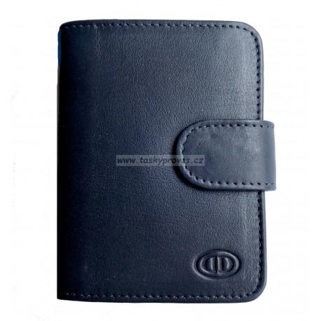 Kožené pouzdro na vizitky nebo kreditní karty DD SPL 97-06 tm.modré