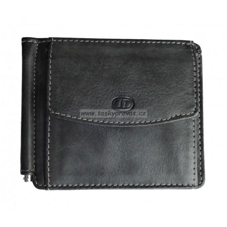 Kožená peněženka dolarka DD W 758-01 black