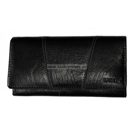 Dámská kožená luxusní peněženka Lagen PWL 388/T black