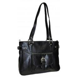 Kožená kabelka Katana DD 32906-01 černá