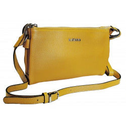 Kožená kabelka Katana 87303-16 žlutá