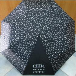 Deštník skládací Blue Drop A878DC černý/hvězdy