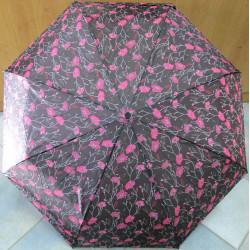 Deštník skládací plně automatický Perletti 25893 hnědý