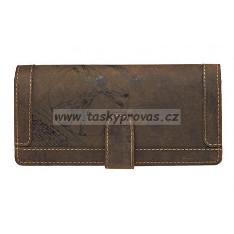 Dámská kožená peněženka Lagen ADPW-3 hnědá