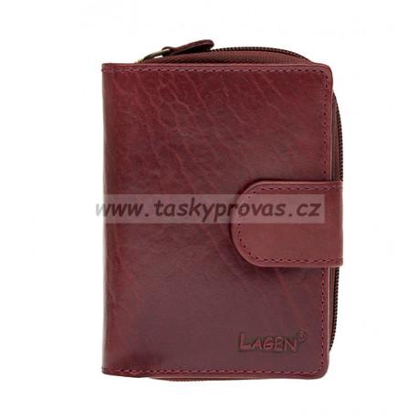Dámská kožená peněženka Lagen 2002/T vínově červená