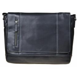 Kožená taška Segali 25581 černá