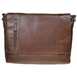 Kožená taška Segali 25581 hnědá