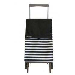 Rolser nákupní skládací taška na kolečkách Original Marina PLE072 1024 černo-bílá