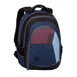 Studentský batoh Bagmaster DIGITAL 20 C BLUE/RED/LIGHT BLUE