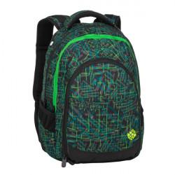 Studentský batoh Bagmaster DIGITAL 20 D GREEN/BLACK/GRAY