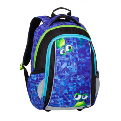 Školní batoh Bagmaster MARK 20 B BLUE/GREEN/BLACK