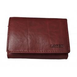 Kožená peněženka dámská Lagen LM-2520/T vínová