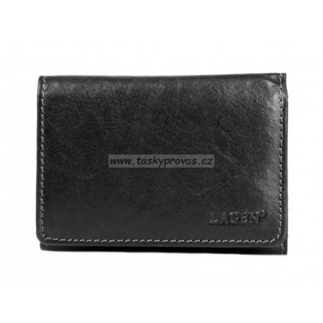 Kožená peněženka dámská Lagen LM-2521/T černá