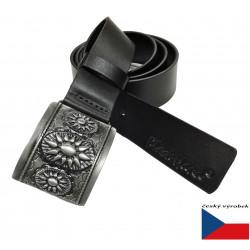 Kožený opasek Black 026-98 černý
