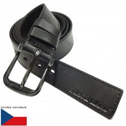 Kožený opasek Black 094-98PR černý
