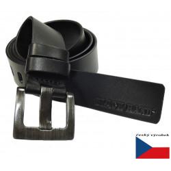 Kožený opasek Black 049-98 černý