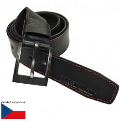 Kožený opasek Black 128-98PRČV černý
