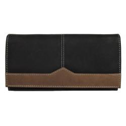 Dámská kožená peněženka Tom 2210/82-80 černá/hnědá