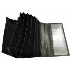 Kožená kasírka Talacko 999 MDD černá